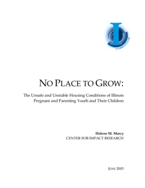 No Place to Grow: The Unsafe and Unstable Housing Conditions of Illinois Pregnant and Parenting Youth and Their Children