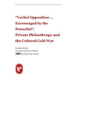 """Verbal Opposition… Encouraged by the Powerful"": Private Philanthropy and the Cultural Cold War"